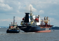 Fesco Ilyinsky with Tug Svitzer Matlby