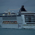 MSC Opera arriving on the solent at dawn