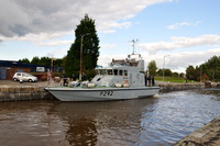 HMS Charger (P292) at Latchford Locks 14/10/2012