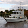 HMS Charger (P292) awaiting the locks