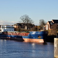 Suna approaching Latchford Locks 5th December 2012