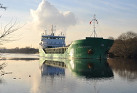 Arklow Resolve on the Manchester Ship Canal for Cerestar Wharf