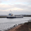 Verity on the Manchester Ship Canal at Runcorn 12th January 2013
