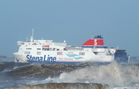 Stena Lagan departing the Mersey