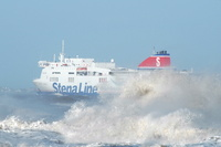 Stena Lagan sailing in rough seas