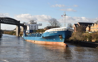Coastal Deniz at Latchford Locks 6th February 2013