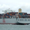 OOCL Brussels  on her maiden call to Southampton