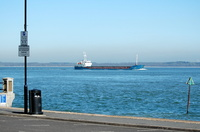 Cargo Ship inward for Cowes passing Egypt Point