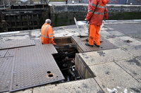 Repair work being carried out