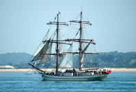 Tall Ship Astrid  arriving Southampton 13/7/2013