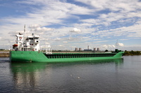 Arklow Freedom passing Runcorn inward for Cargills
