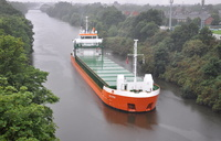 Calypso arriving in heavy rain 13th August 2013