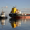 Levana with Tug Smit Sandon at Eastham 19th January 2014