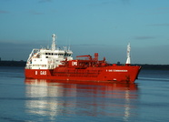 B Gas Commander IMO 9112155 at Eastham 2nd February 2014
