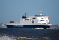 Ben My Chree IMO 9170705 12504gt Arriving for 12 Quays 16th February 2014
