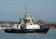 Svitzer Harty covering  for Svitzer Sarah refit