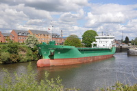 Arklow Flair sailing for Runcorn Docks 6th May 2014