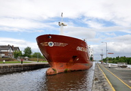 Omegagas  arriving Latchford Locks 10th May 2014