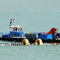 Wiljive working new Cowes Breakwater