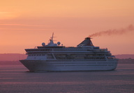 Balmoral passing Cowes at Dawn