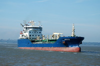 Mergus arriving for Eastham QE2 Docks