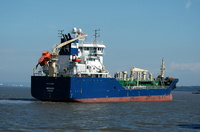 Mergus asphalt Tanker arriving for Eastham