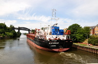 Alsterdiep departs Latchford 26th July 2014