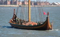 Draken Harald Hårfagre enters the Mersey