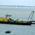 Barge D2 working on Cowes new Breakwater
