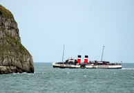 PS Waverley continues on excursion of North Wales Coast