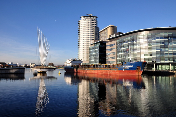 Petersburg swinging at Salford Quays 4th January 2015