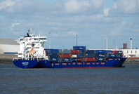 Container Ship Endeavor arriving Liverpool 26th April 2015