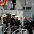 Piping HRH the Duke of Edinburgh aboard HMS Ranger