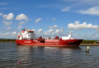 B Gas Linda passing Ellesmere Port for Stanlow