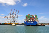 CMA CGM Columba arriving Southampton Container Port