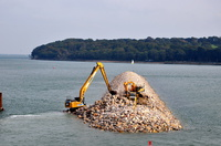 Cowes new breakwater nearing completion