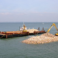 Cowes new breakwater nearing comlpetion