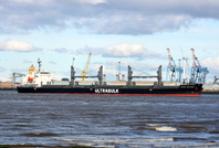 Bulk Carrier Ultra Tolhuaca arriving Liverpool