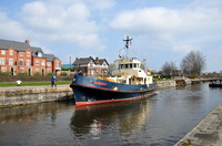 Dornoch at Latchford Locks 3rd April 2016