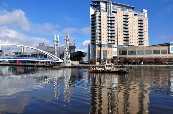 Fosser working at Salford Quays 8th April 2016