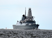 HMS Duncan (D37) arriving on the Mersey 22nd June 2016
