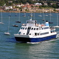 Wight Scene departing Cowes
