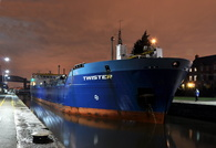 Twister at Latchford Locks 30th December 2016 inward for Carrington