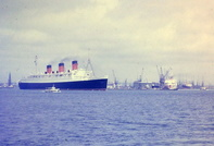 Queen Mary departing Southampton 1967