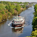 Royal Iris on a Manchester Ship Canal Cruise 10th May 2017- RMS Veritas can be seen in the locks