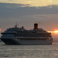 Costa Pacifica arriving at daybreak
