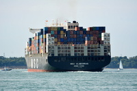 MSC Algeciras arriving for Southampton