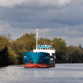 Mia Sophie B approaching Irlam 10th October 2017