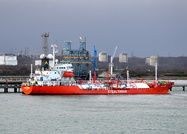 Gas Pasha alongside Fawley