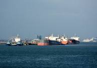 Tankers on Fawley